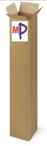 Embalaje de Cartón para Display Roll Up 100cm