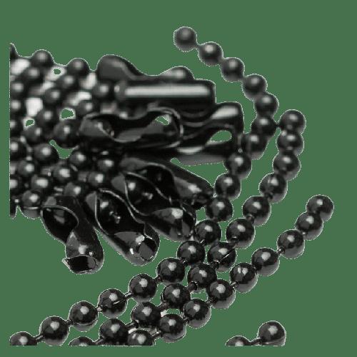 Cadena de bolas negra