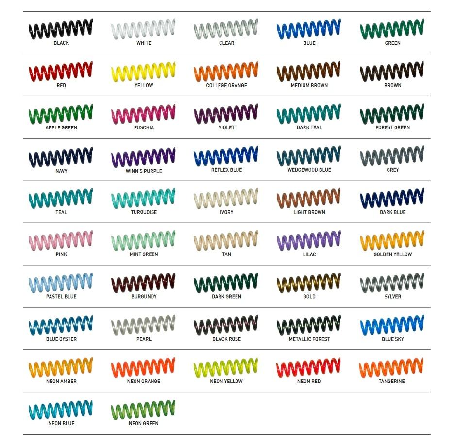 bobina de plastico coloreado