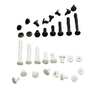 Tornillos de Plástico Blancos/Negros
