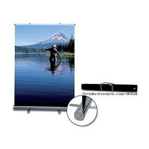 DISPLAY ENRROLLABLE ROLL UP 1 CARA - 2 CARAS