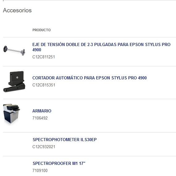 accesorios surecolor p5000
