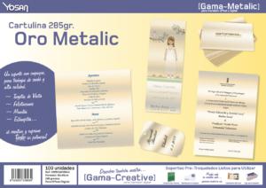 cartulina oro metalic