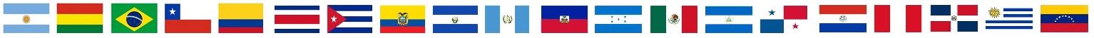 tira de banderas latino americanas